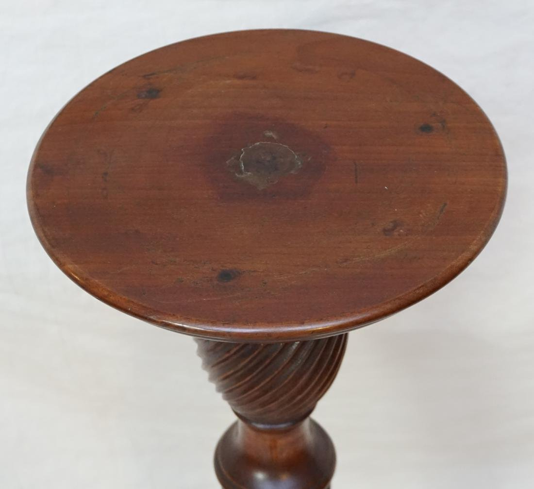 MAHOGANY FLUTED PLANT STAND - 3