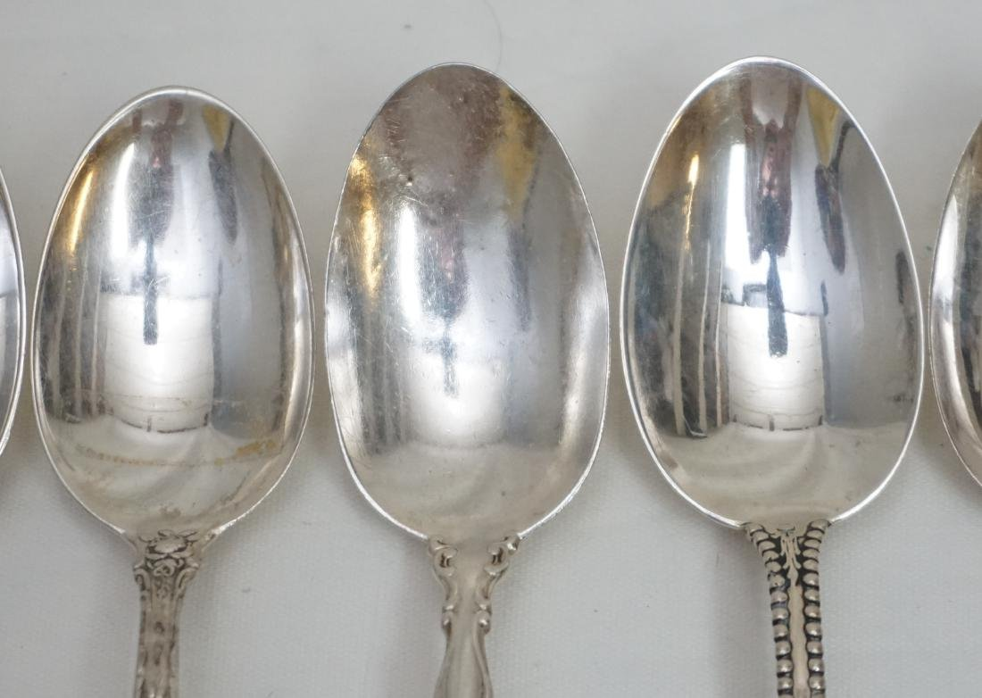 5 ANTIQUE STERLING 1 COIN SILVER SPOONS - 4