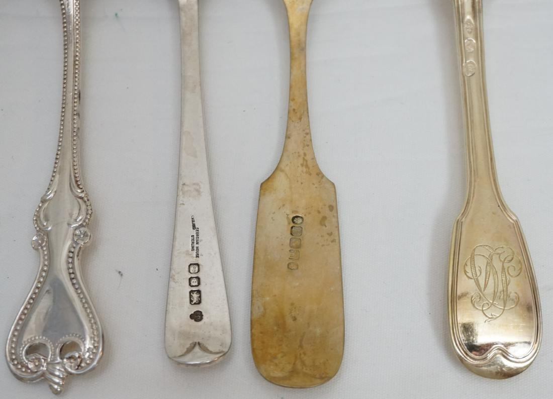 8 ANTIQUE STERLING & COIN SILVER SPOONS - 6