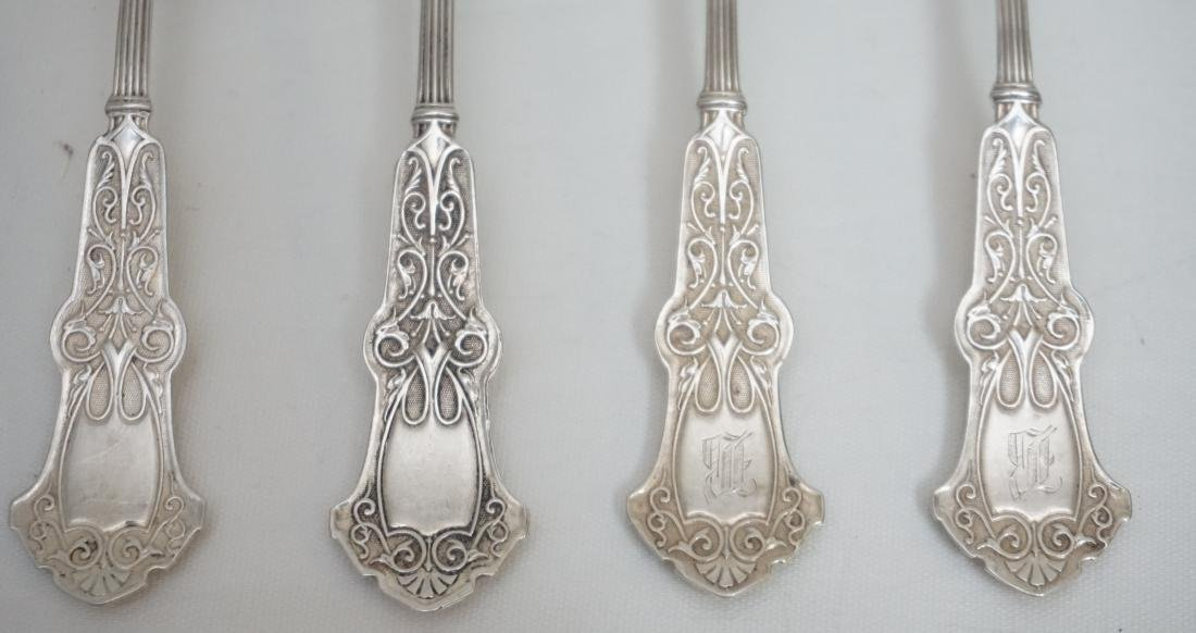 8 WHITING STERLING ALHAMBRA SPOONS - 2
