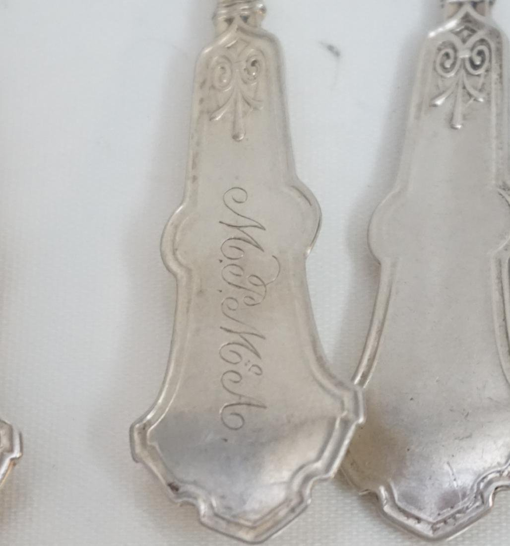 8 WHITING STERLING ALHAMBRA SPOONS - 6