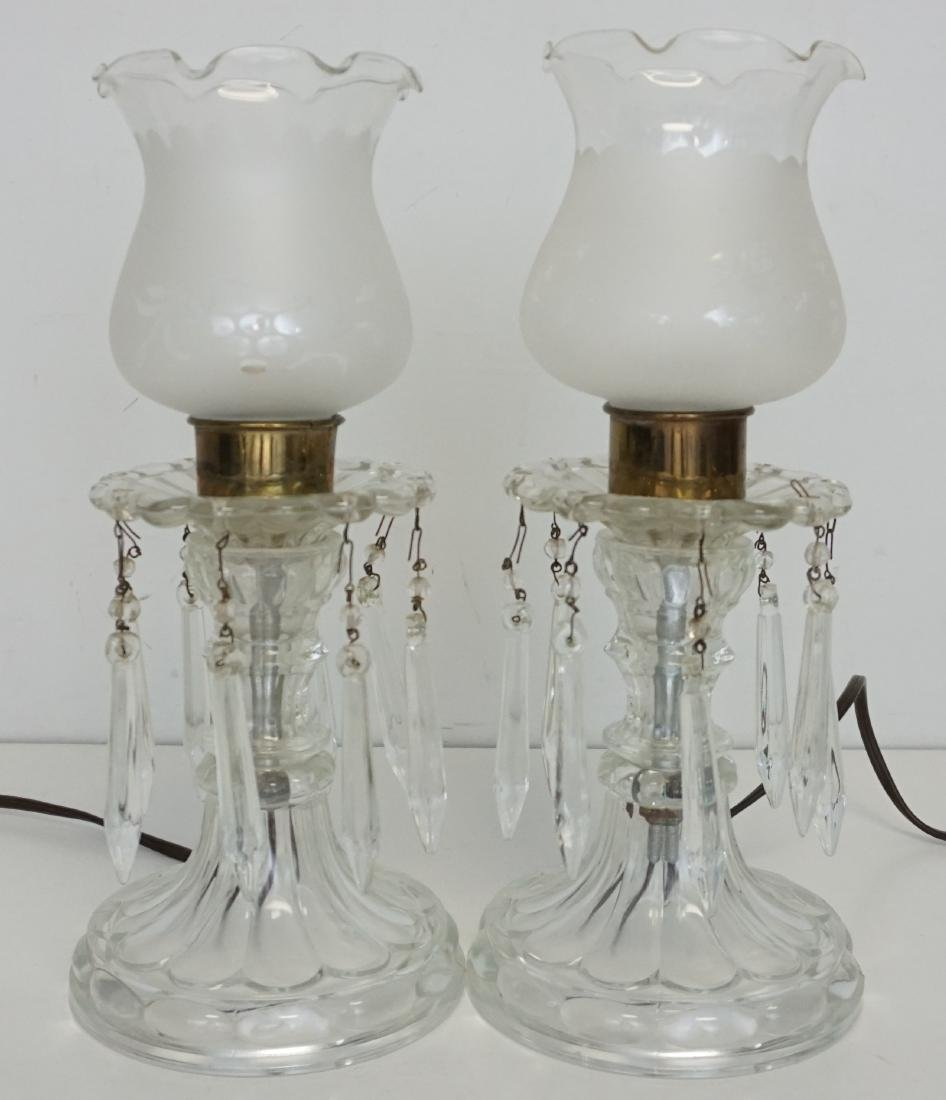 PAIR VINTAGE ELECTRIC HURRICANE LAMPS