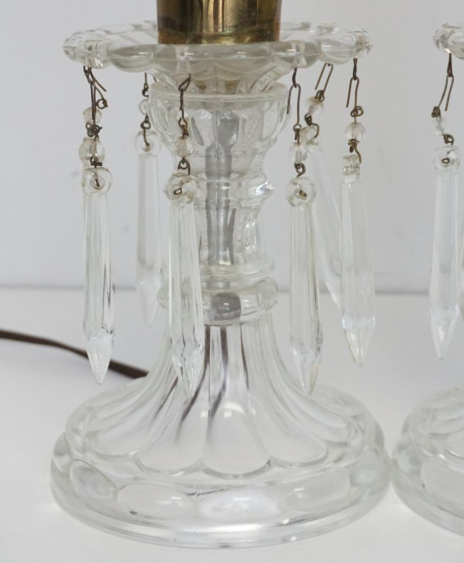 PAIR VINTAGE ELECTRIC HURRICANE LAMPS - 2