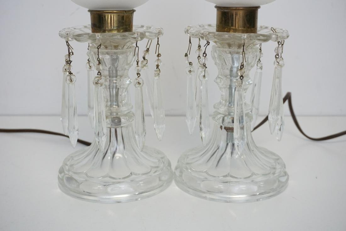 PAIR VINTAGE ELECTRIC HURRICANE LAMPS - 3