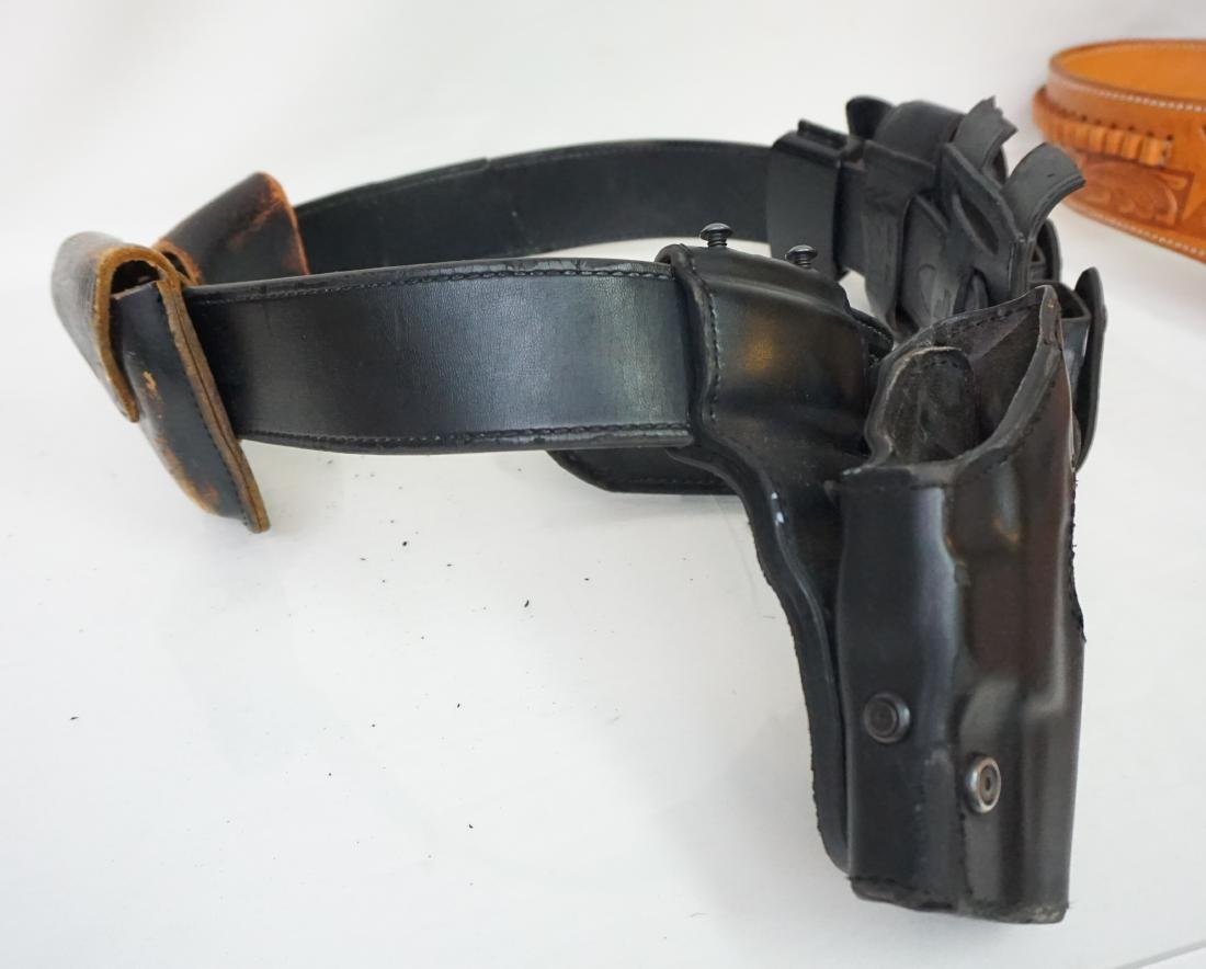 2 LEATHER GUN HOLSTERS - 5