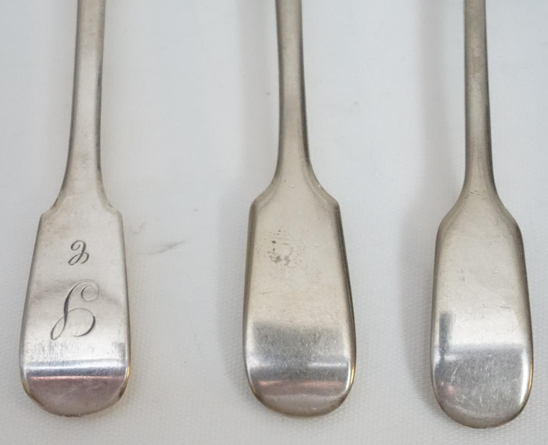 6 AMERICAN COIN SILVER MUSTARD SPOONS - 3