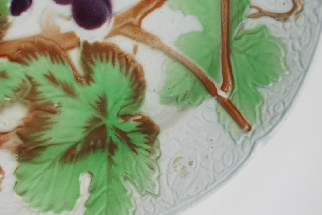 5 pc MAJOLICA COFFEE & ST CLEMENT PLATES - 3