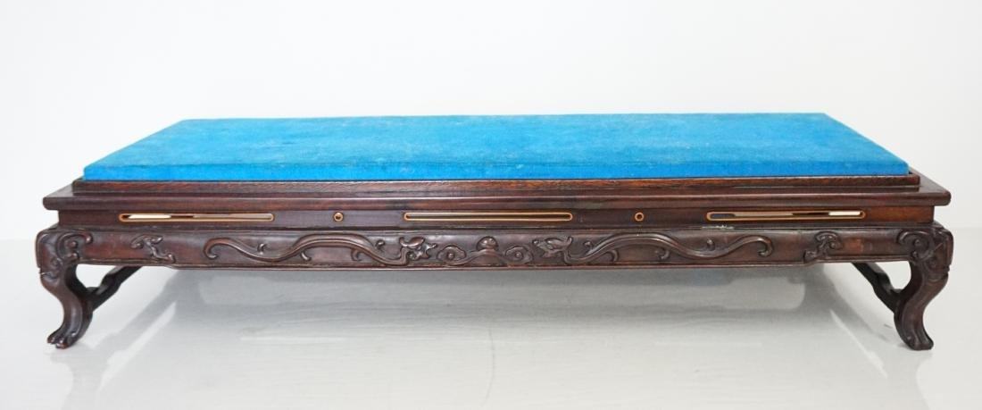 LARGE CARVED CHINESE WOOD STAND