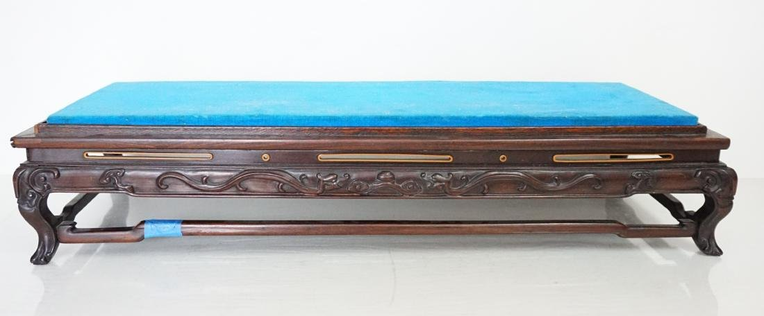 LARGE CARVED CHINESE WOOD STAND - 4