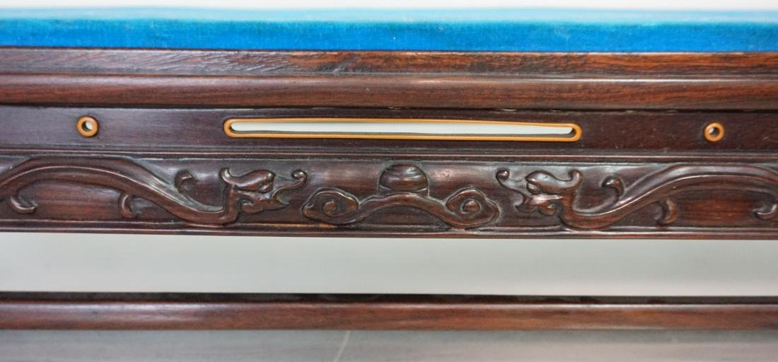 LARGE CARVED CHINESE WOOD STAND - 7