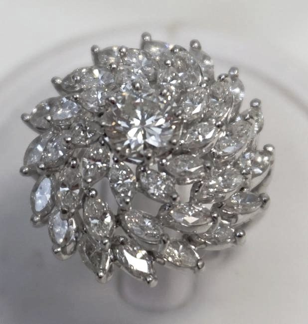 LARGE DIAMOND RING 6.95CTS
