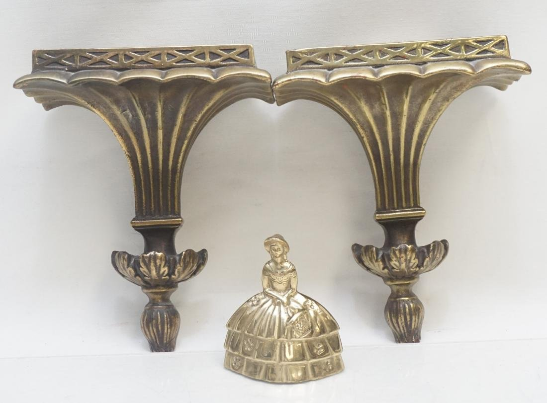 PAIR NEOCLASSICAL GILTWOOD WALL BRACKETS - 10