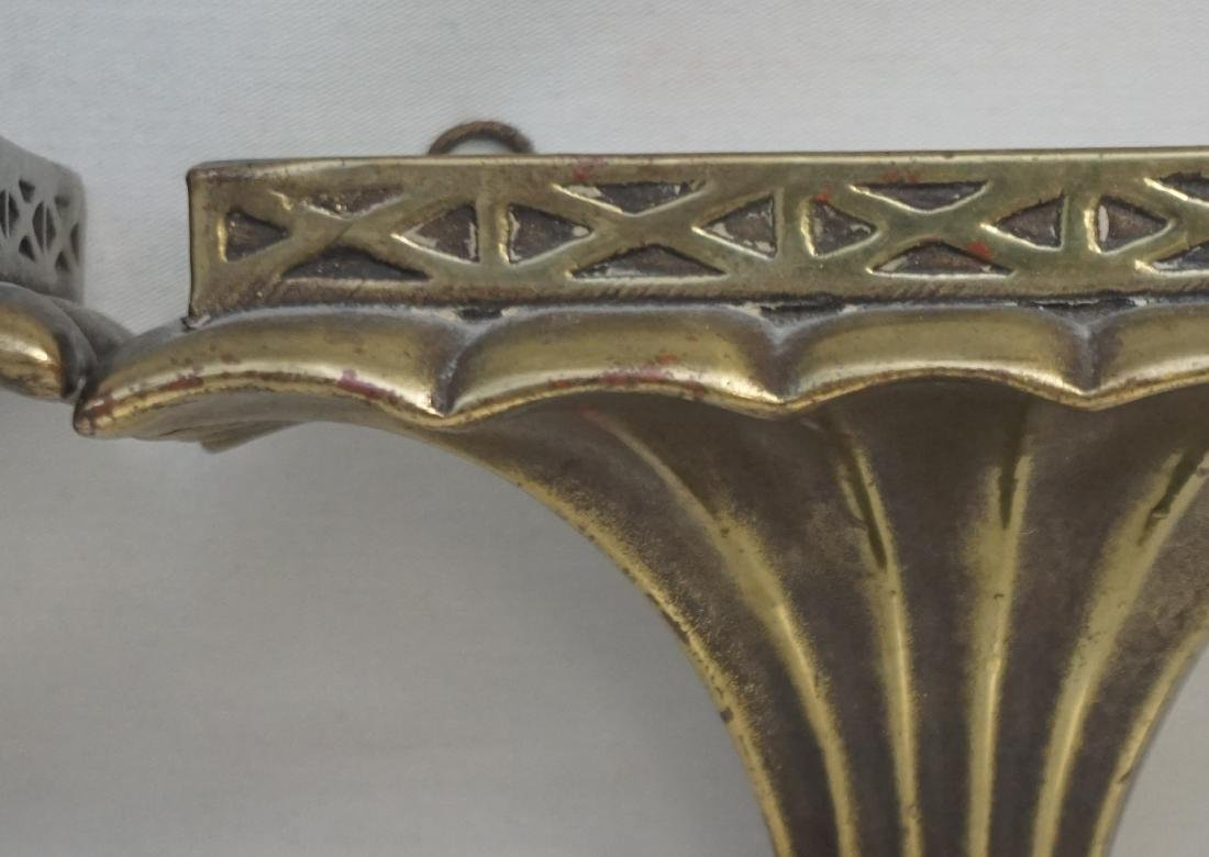 PAIR NEOCLASSICAL GILTWOOD WALL BRACKETS - 4