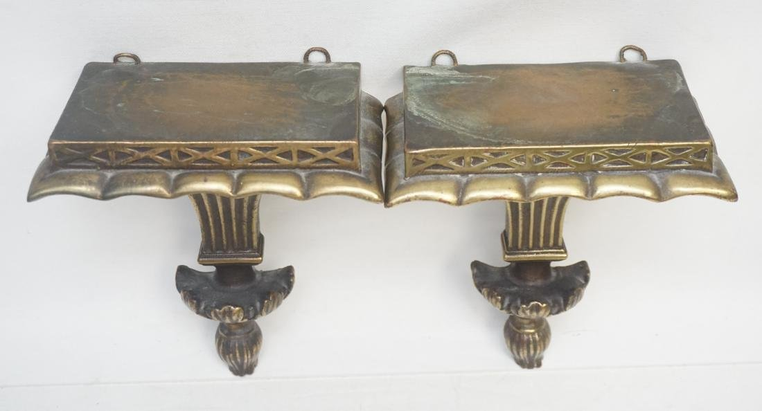 PAIR NEOCLASSICAL GILTWOOD WALL BRACKETS - 5