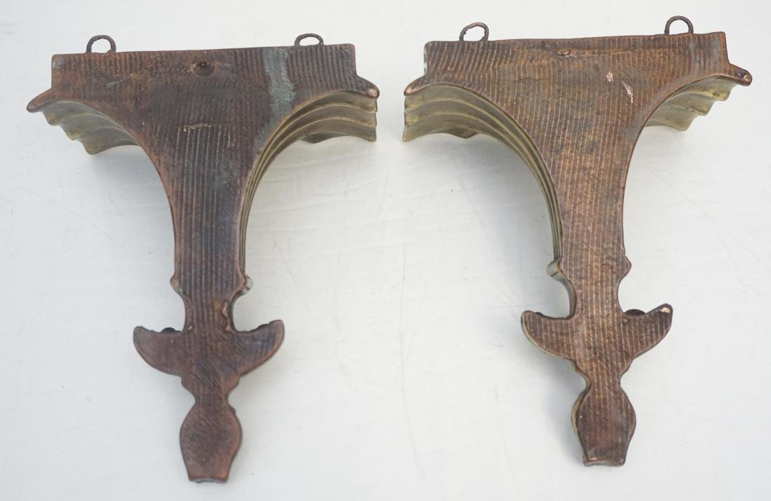PAIR NEOCLASSICAL GILTWOOD WALL BRACKETS - 9