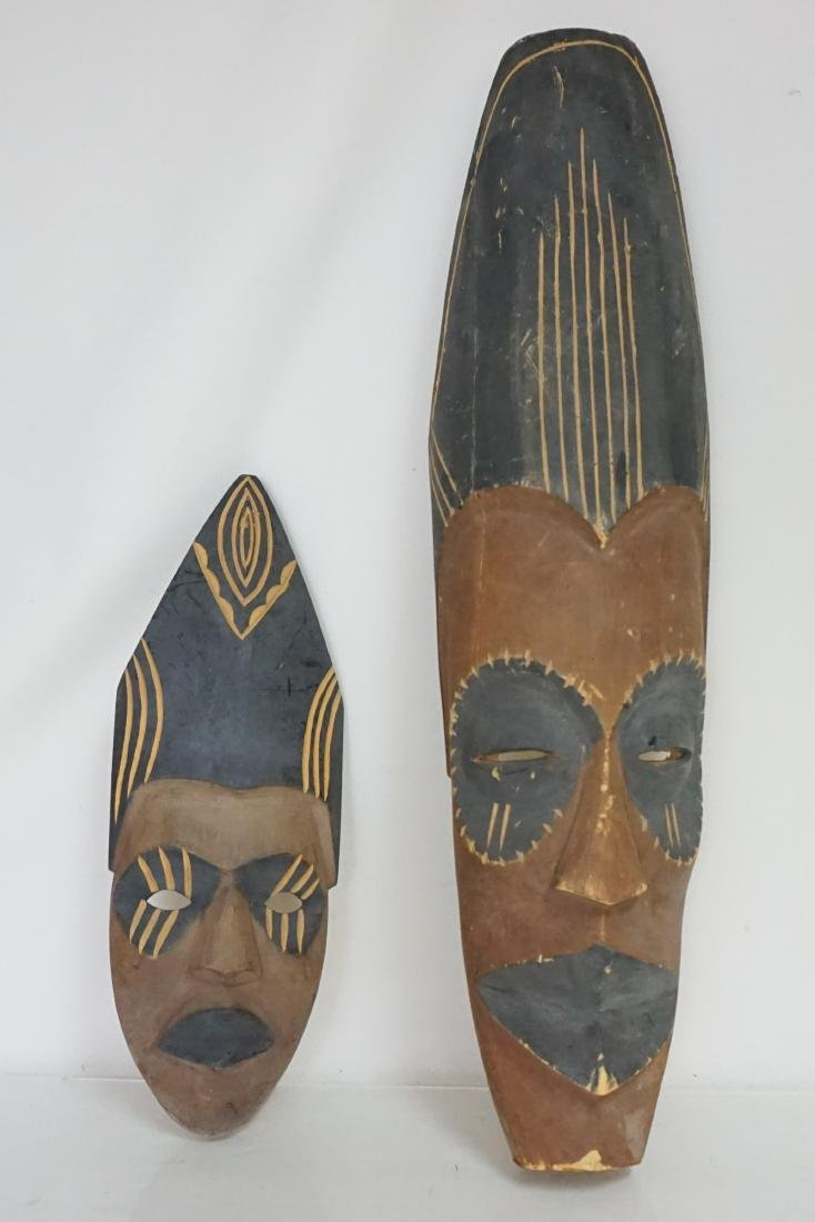 2 PACIFIC ISLANDS CARVED MASKS