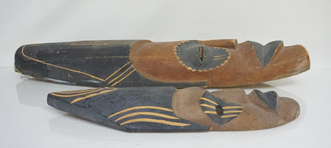 2 PACIFIC ISLANDS CARVED MASKS - 2