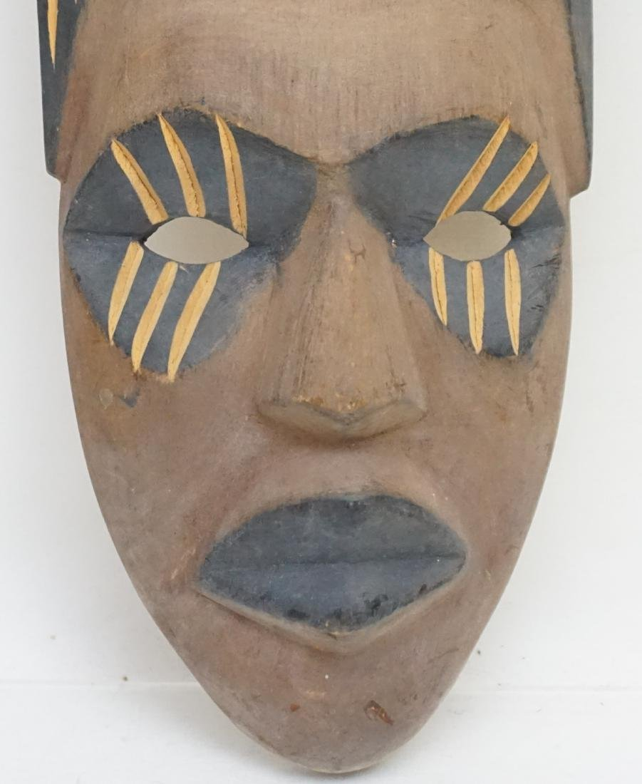 2 PACIFIC ISLANDS CARVED MASKS - 3