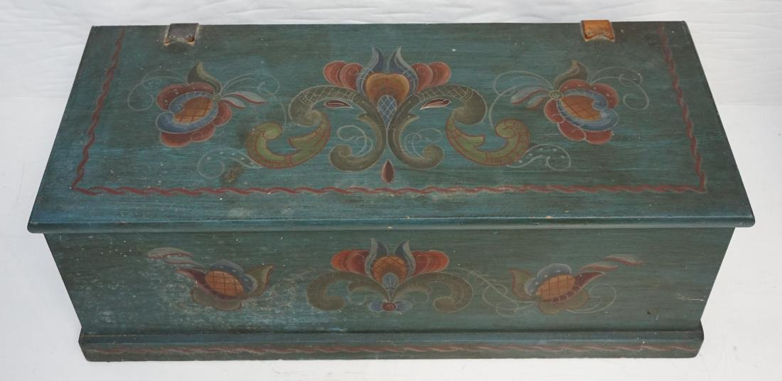 WOOD PAINTED FOLK ART BOX - 3