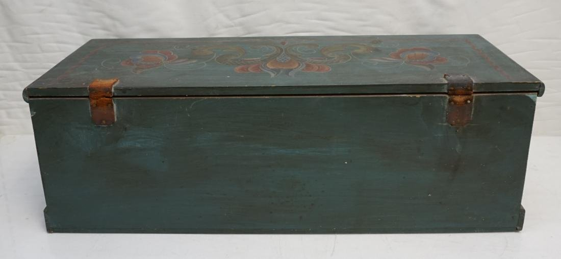 WOOD PAINTED FOLK ART BOX - 9
