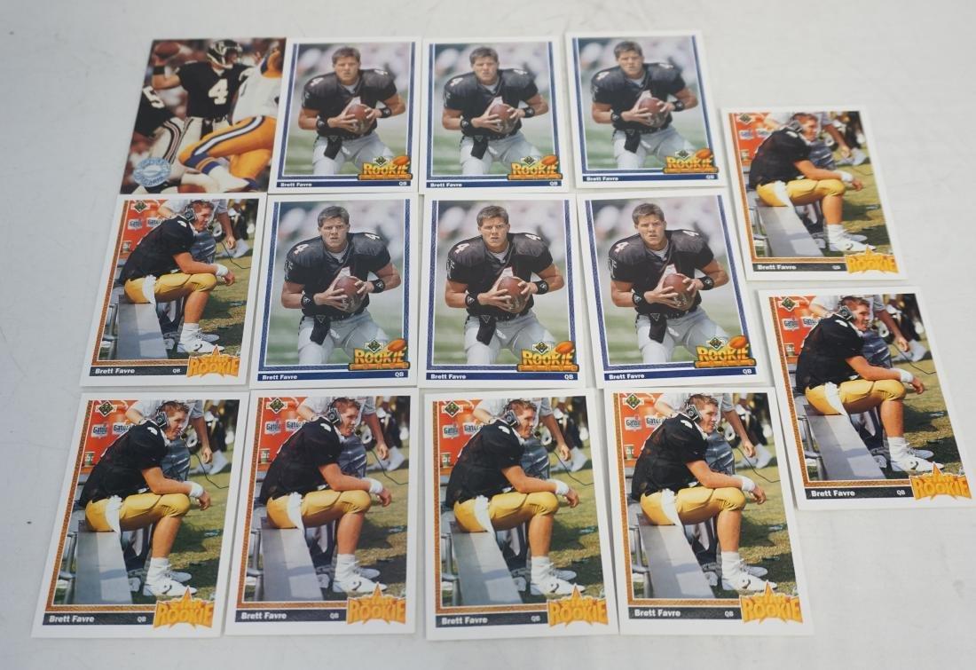 14 1991 BRETT FAVRE ROOKIE CARDS