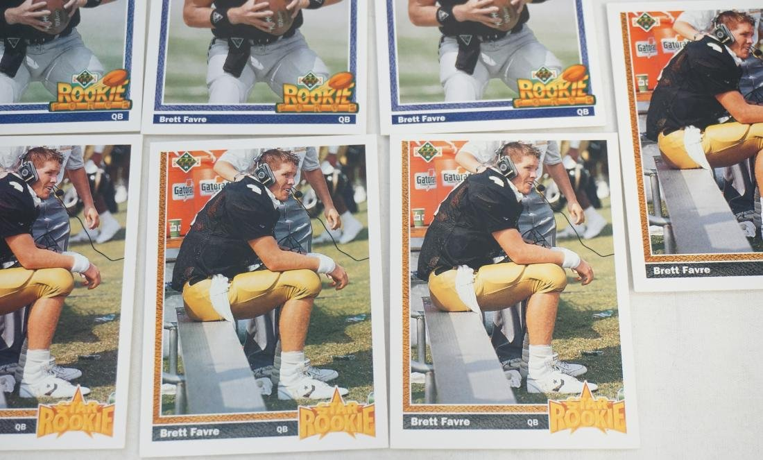 14 1991 BRETT FAVRE ROOKIE CARDS - 2