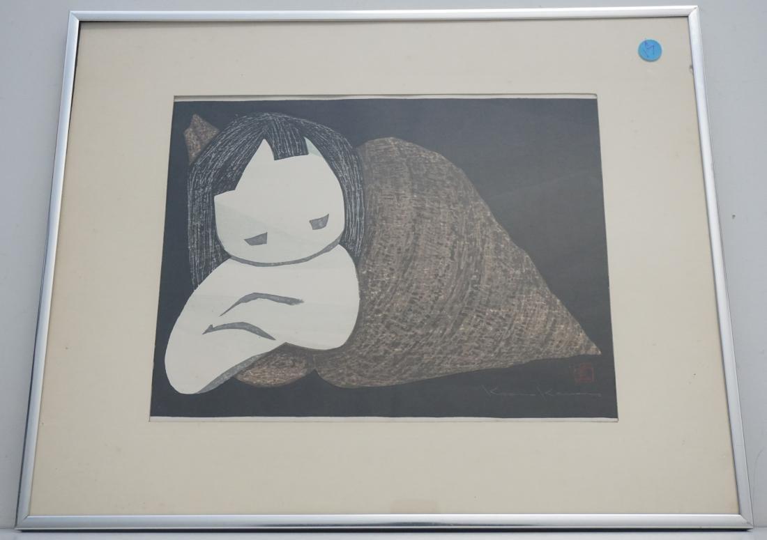 VINTAGE KAORU KAWANO WOODBLOCK