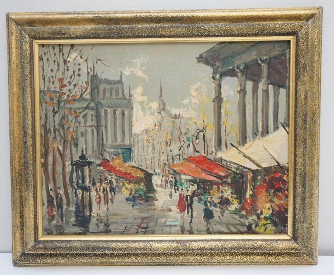 FRENCH SCHOOL FLOWER MARKET OIL