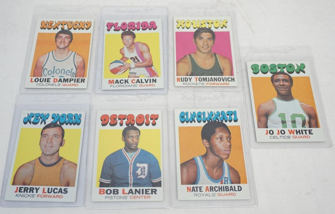 7 1971 TOPPS BASKETBALL ROOKIE CARDS