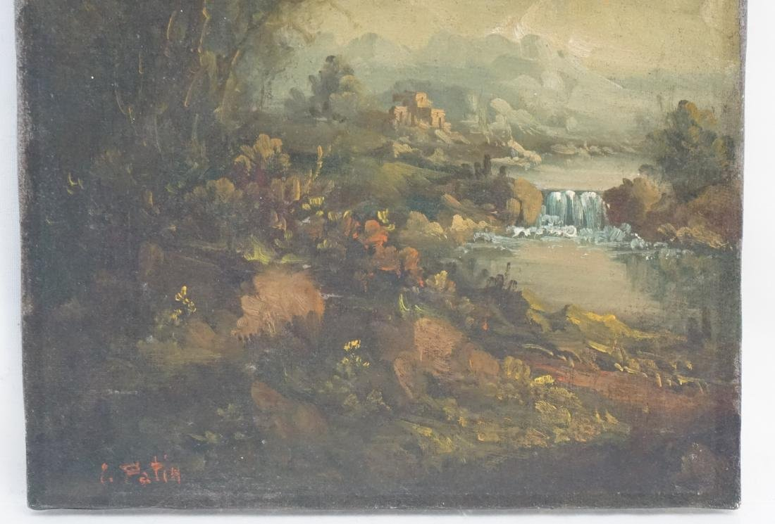 CONTINENTAL SCHOOL LANDSCAPE OIL ON CANVAS - 2