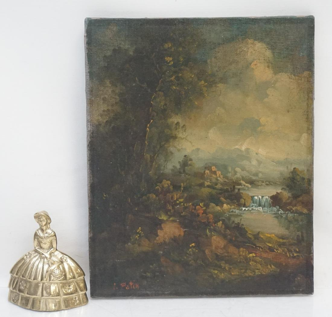 CONTINENTAL SCHOOL LANDSCAPE OIL ON CANVAS - 7