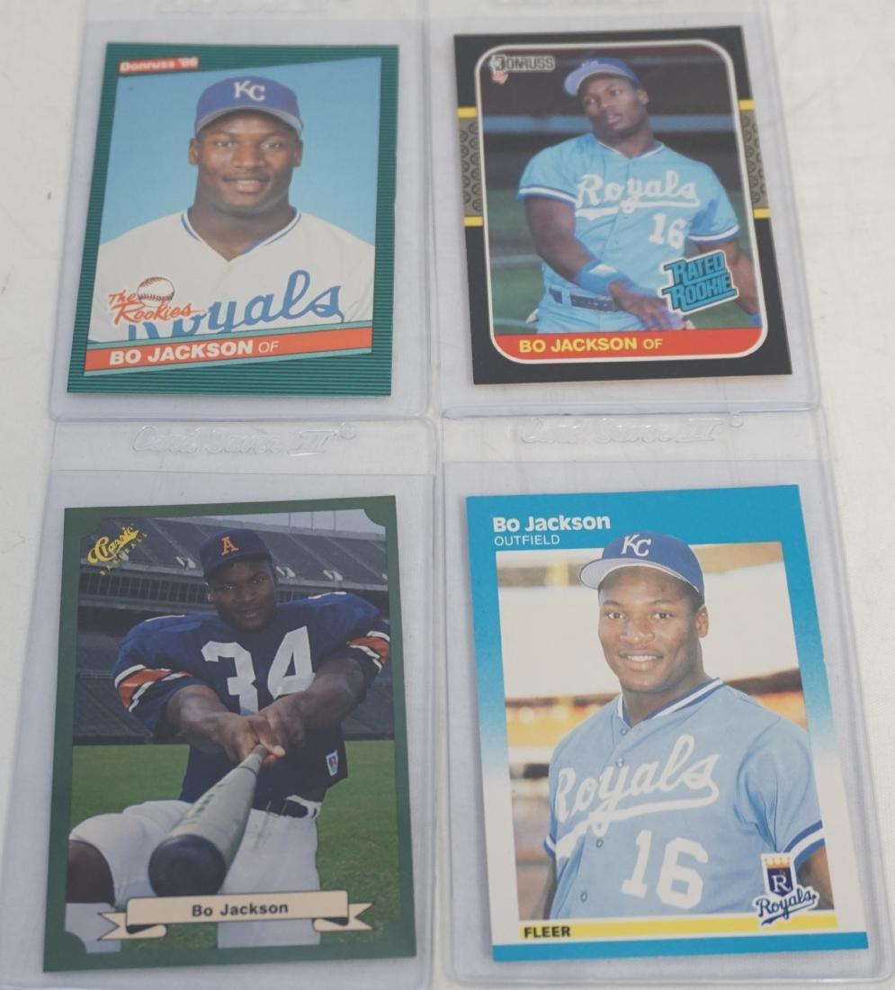 4 BO JACKSON 1986 + 1987 BASEBALL CARDS