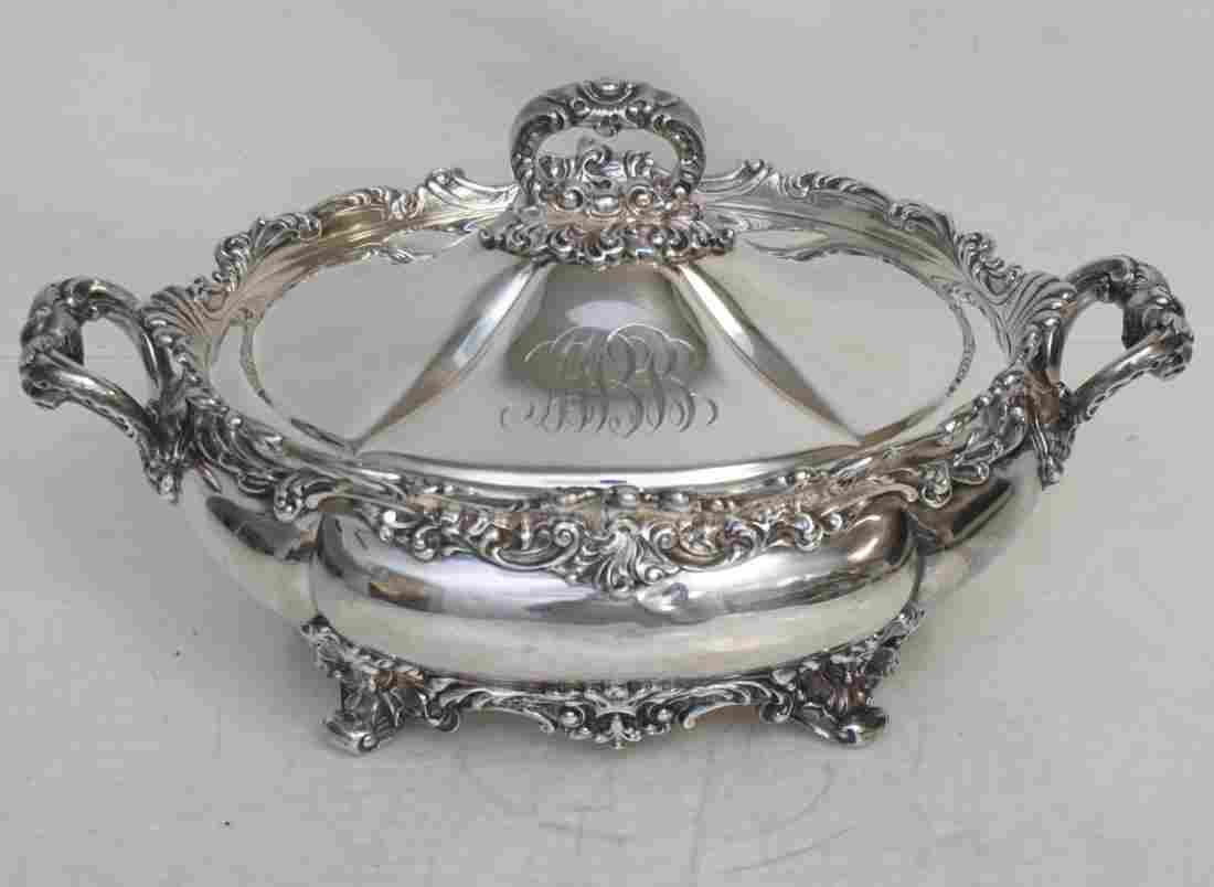 AMERICAN STERLING COVERED VEGETABLE C. 1890