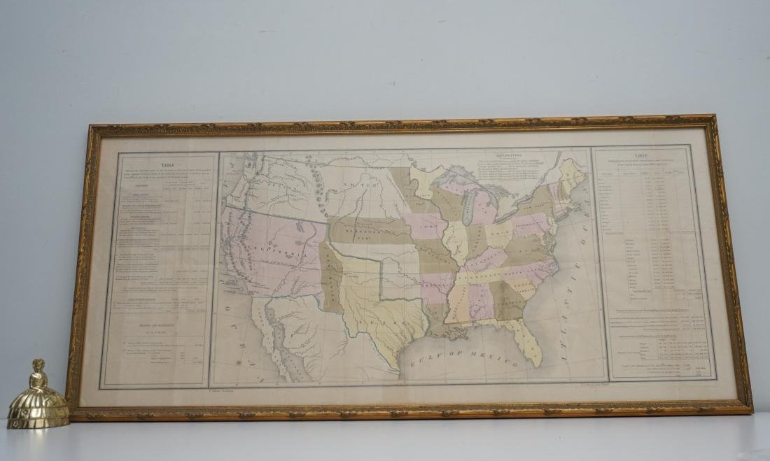 RARE GILMAN'S 1848 MAP OF THE US - 10