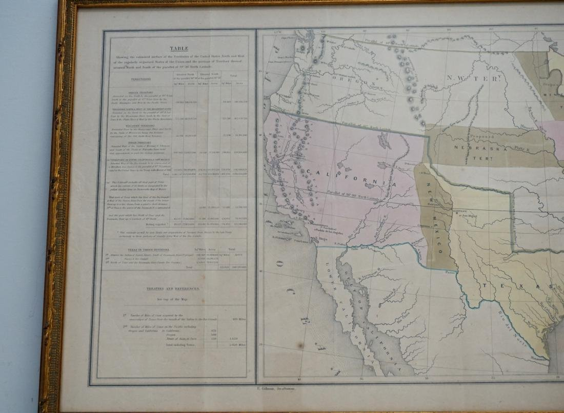 RARE GILMAN'S 1848 MAP OF THE US - 3