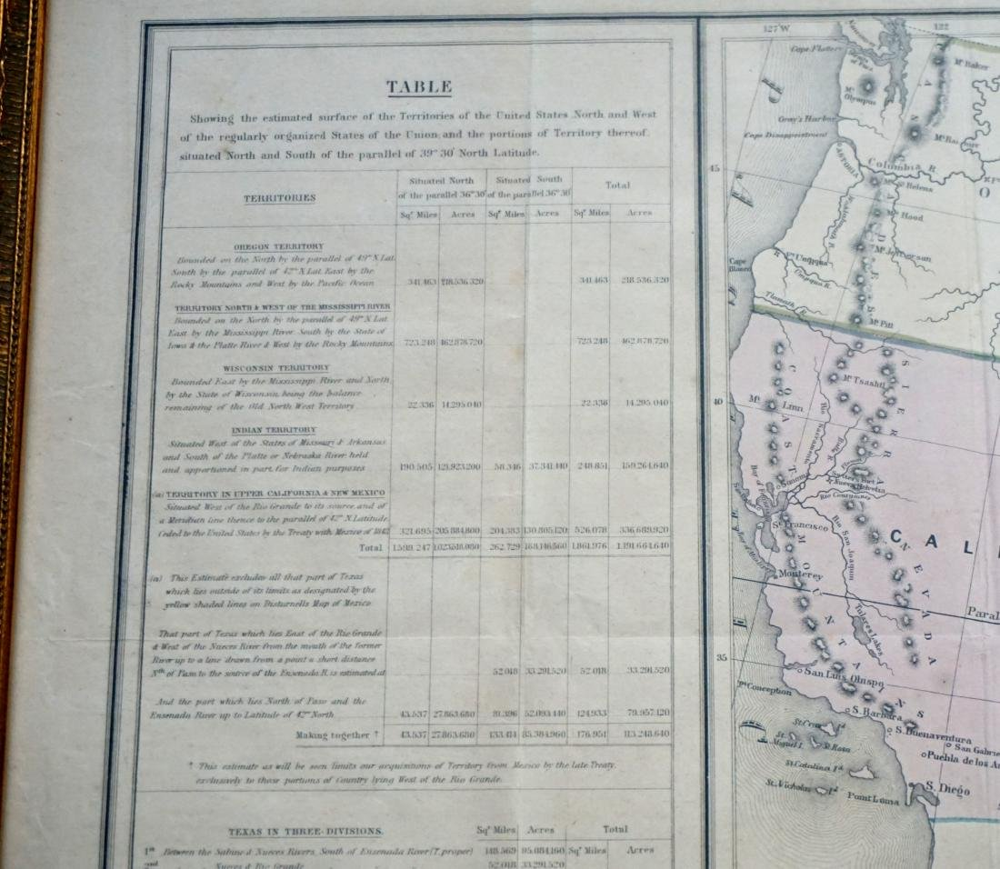 RARE GILMAN'S 1848 MAP OF THE US - 4