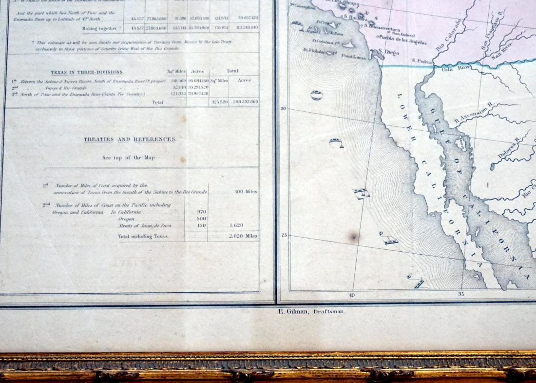 RARE GILMAN'S 1848 MAP OF THE US - 5