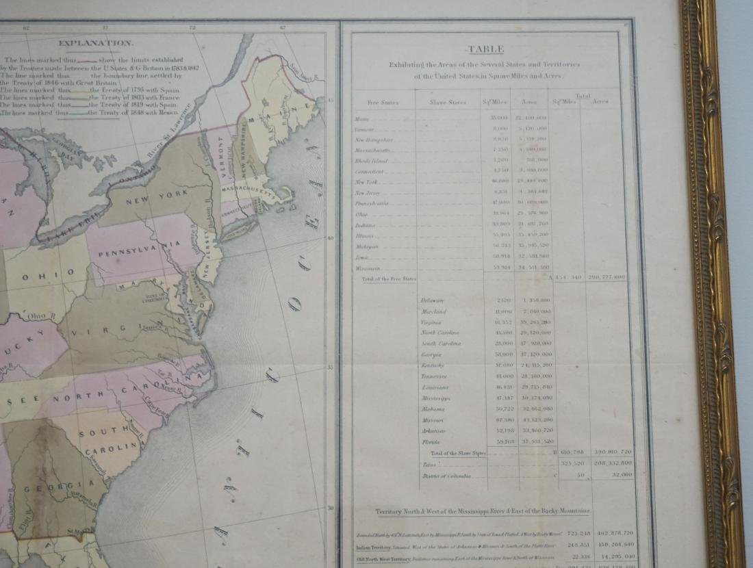 RARE GILMAN'S 1848 MAP OF THE US - 6