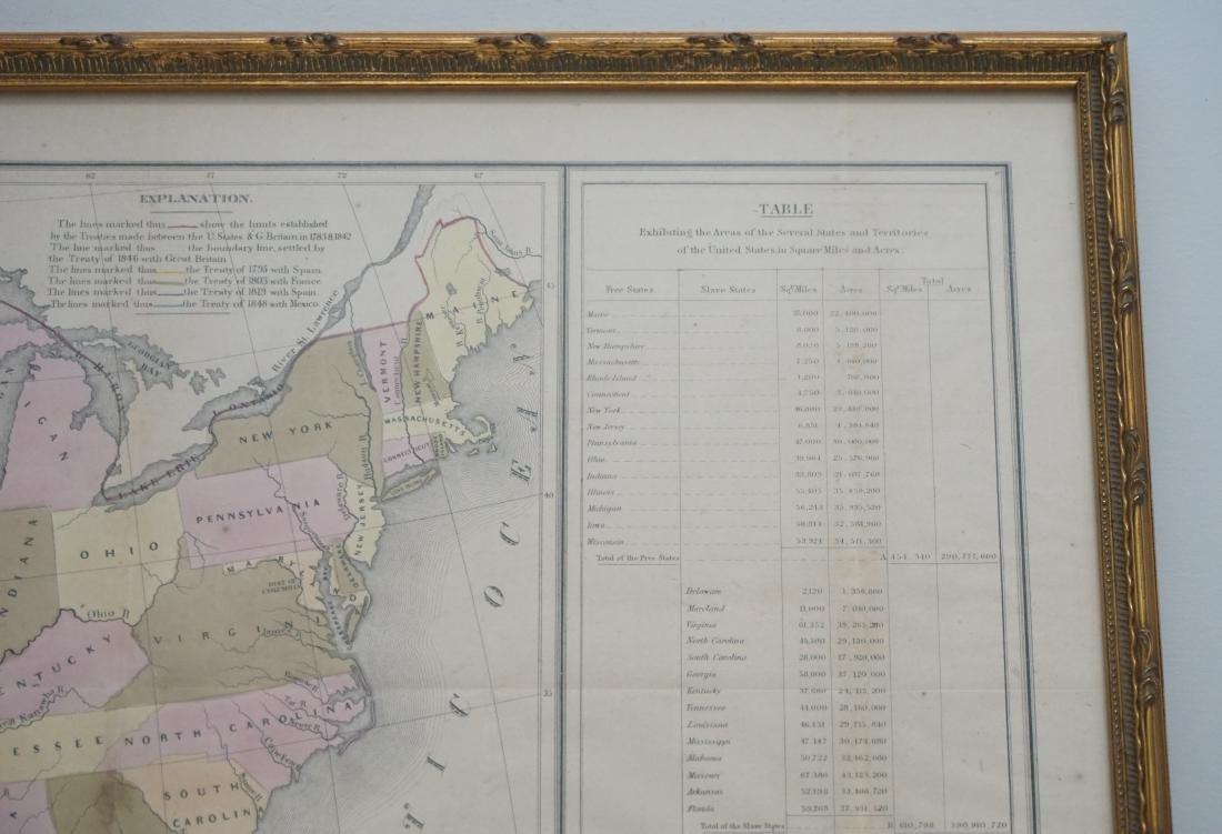 RARE GILMAN'S 1848 MAP OF THE US - 7