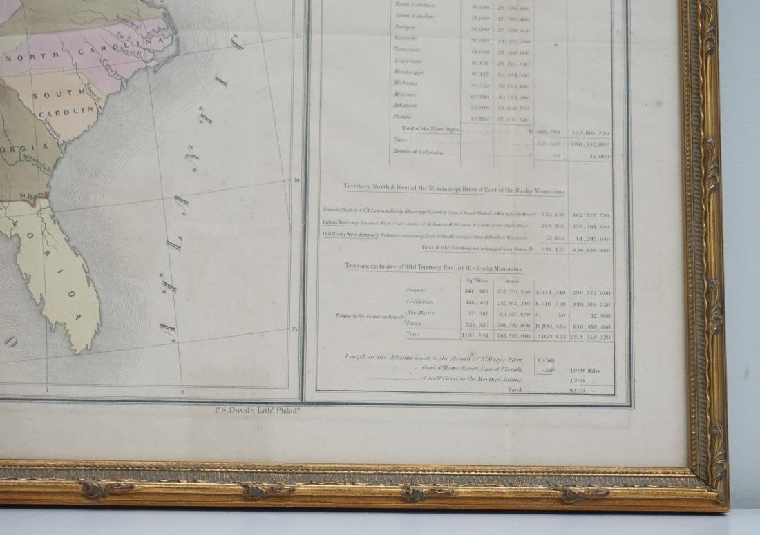 RARE GILMAN'S 1848 MAP OF THE US - 8