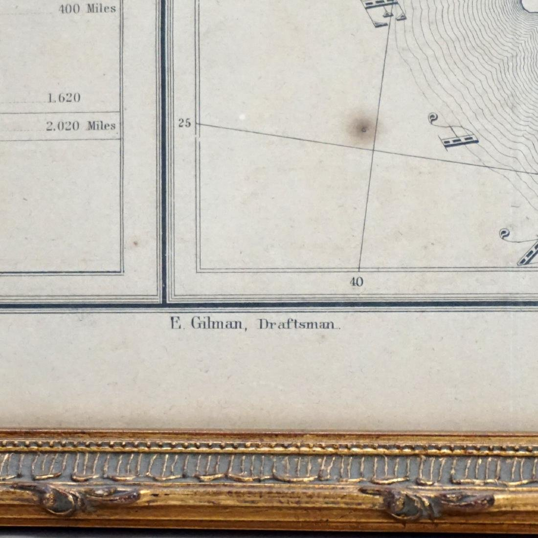 RARE GILMAN'S 1848 MAP OF THE US - 9