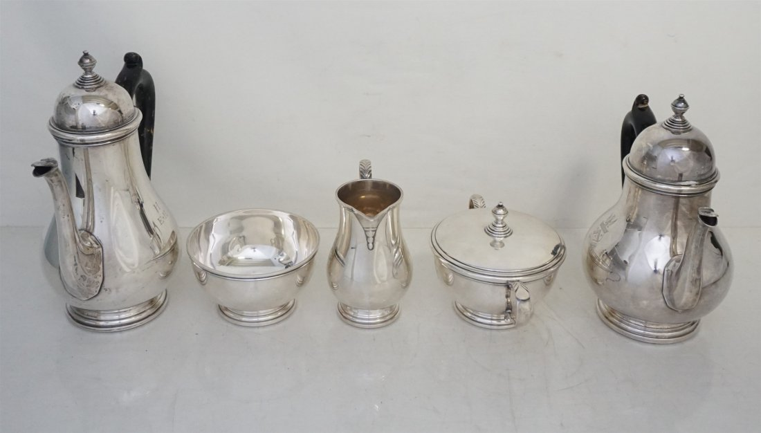 5 PC GORHAM STERLING GEORGE I TEA SERVICE - 10