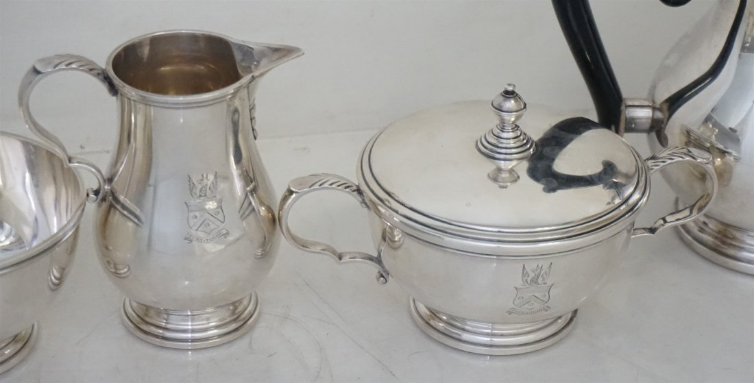 5 PC GORHAM STERLING GEORGE I TEA SERVICE - 4