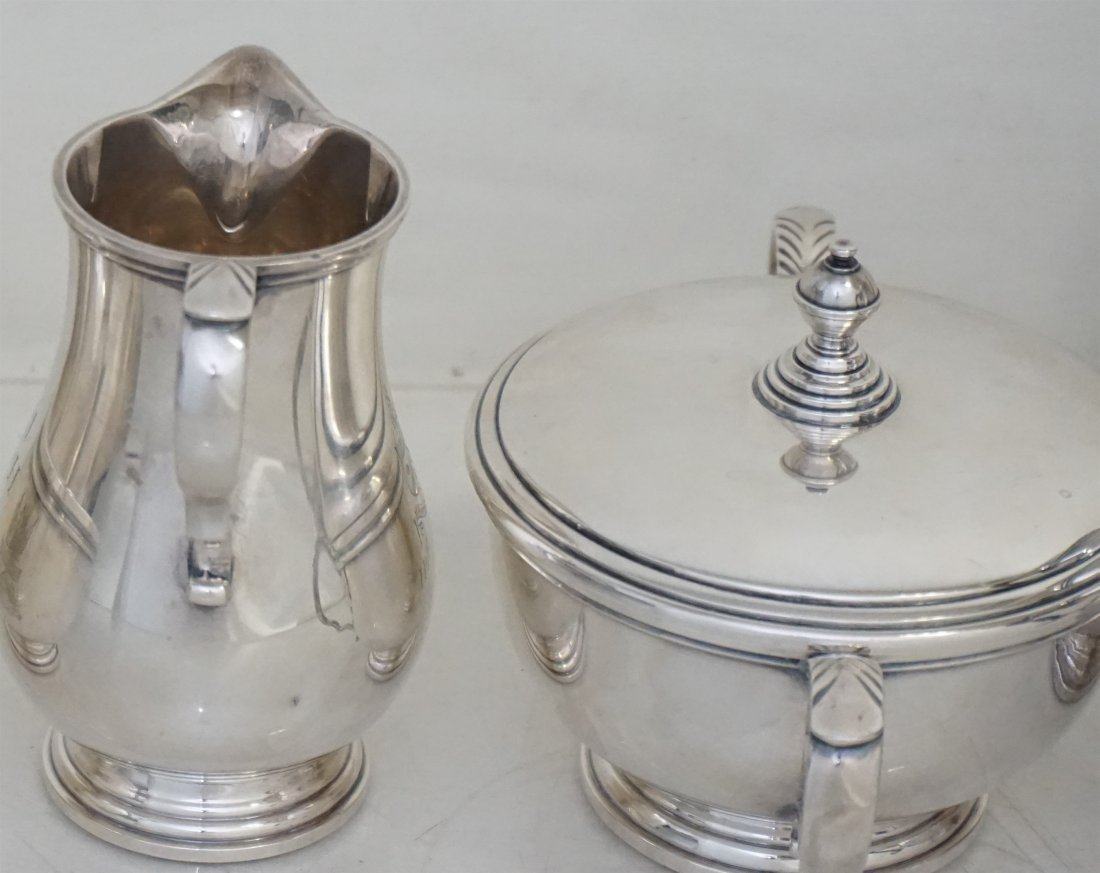 5 PC GORHAM STERLING GEORGE I TEA SERVICE - 6
