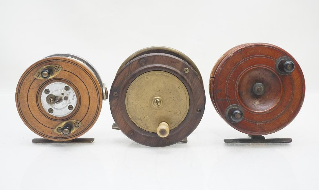3 ANTIQUE FLY FISHING REELS