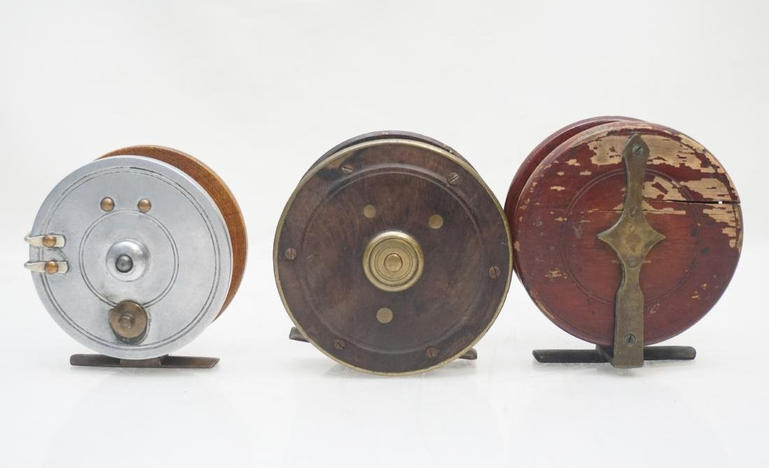 3 ANTIQUE FLY FISHING REELS - 3