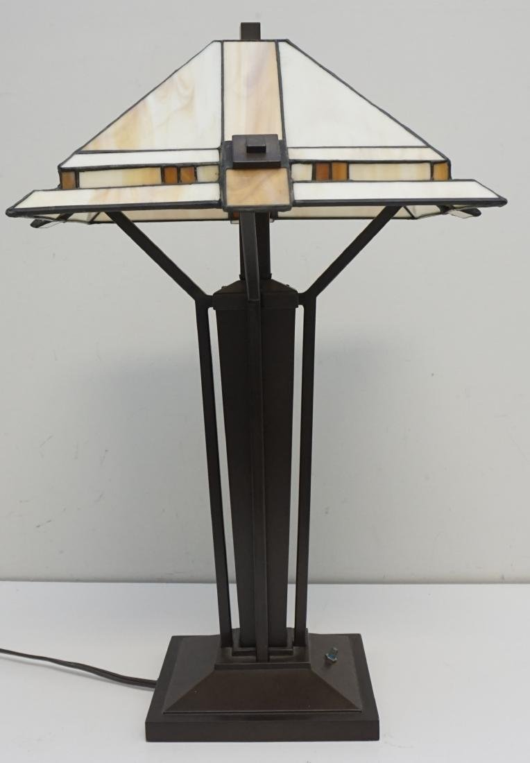 STIFFEL MISSION CRAFTSMAN LAMP - 4