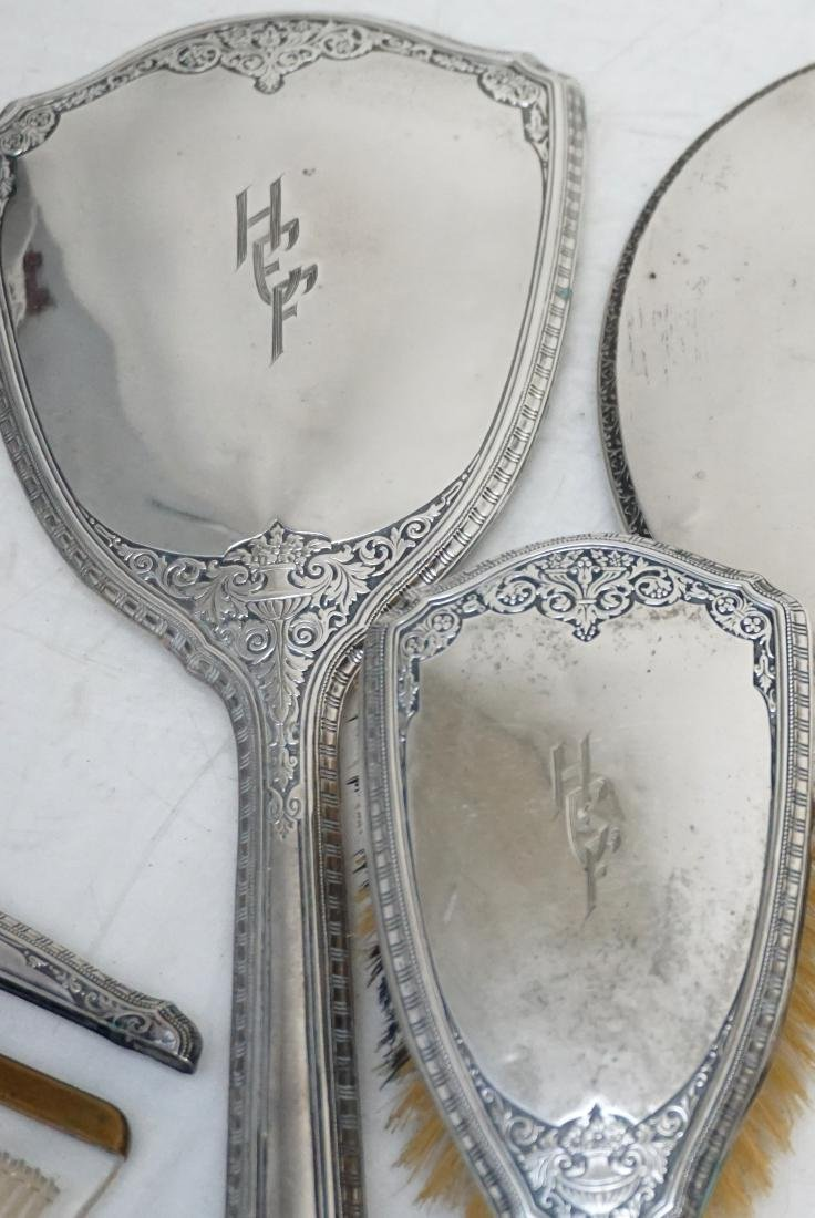 2 STERLING SILVER BRUSH / MIRROR SETS - 3