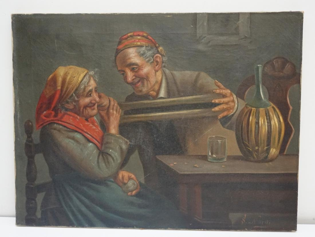 S. NARDI (Italy, 19th/20th c) OIL ON CANVAS