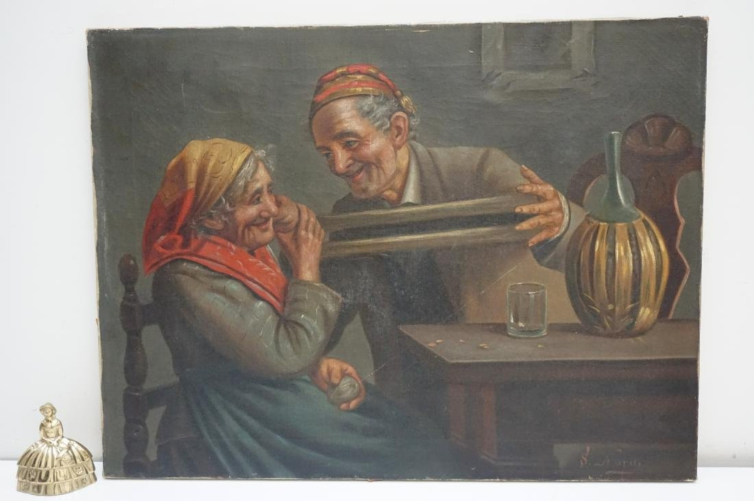 S. NARDI (Italy, 19th/20th c) OIL ON CANVAS - 6